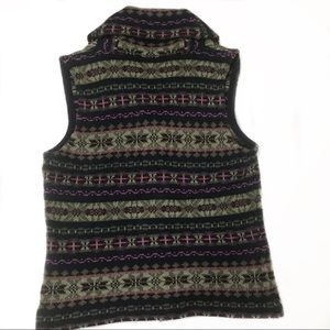 Chaps Sweaters - CHAPS Denim knit vest sweater with pattern